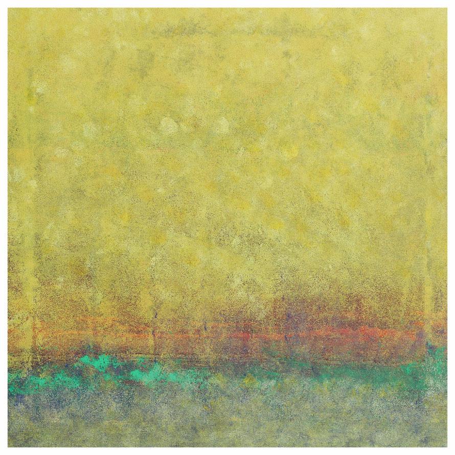 Buschfeuer, 87 x 87 cm, verkauft, Copyright by Martin Uebele