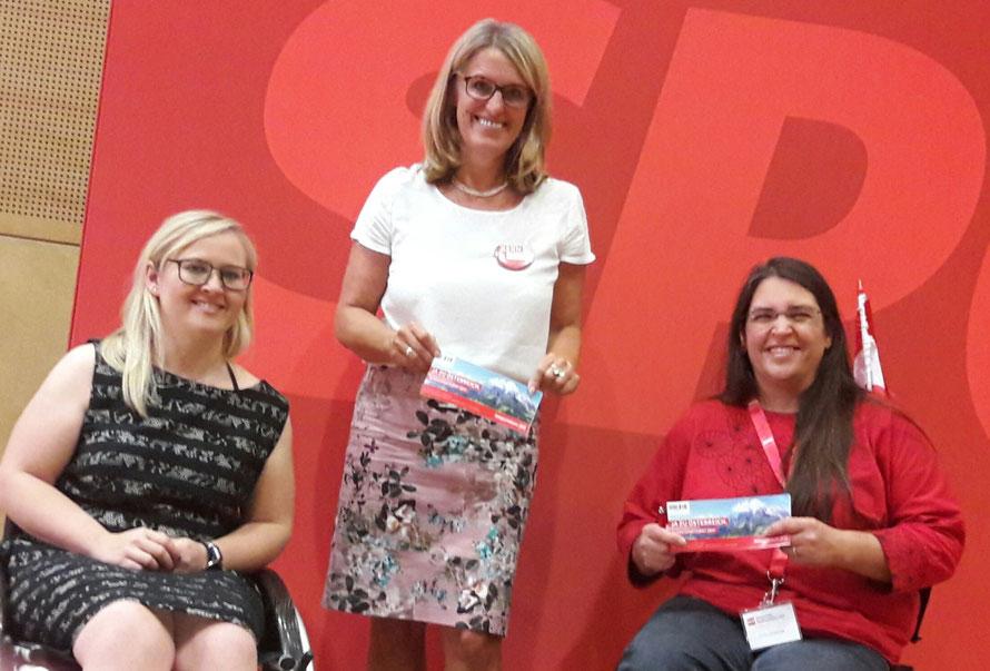 Silke Haider, Ulrike Königsberg-Ludwig & Gudrun Durstberger am Bundesparteirat der SPÖ
