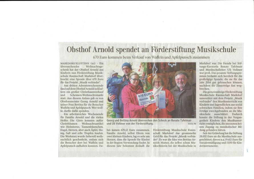 erschienen Schwäbische Zeitung 18.12.2013