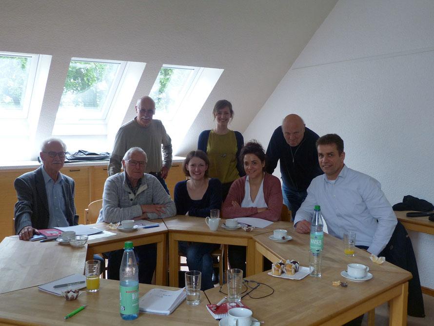 Foto (v.l.): Hermann Vinke, Hanns Gunschera (beide Runder Tisch), Gerd Ilgner (SPD Borgfeld), Katharina Mild, Lea Böhme (beide Stadtteilkoordination), Sarah Ryglewski (SPD-MdB), Detlev Busche (Runder Tisch), Alexander Keil (SPD Borgfeld, Beirat)