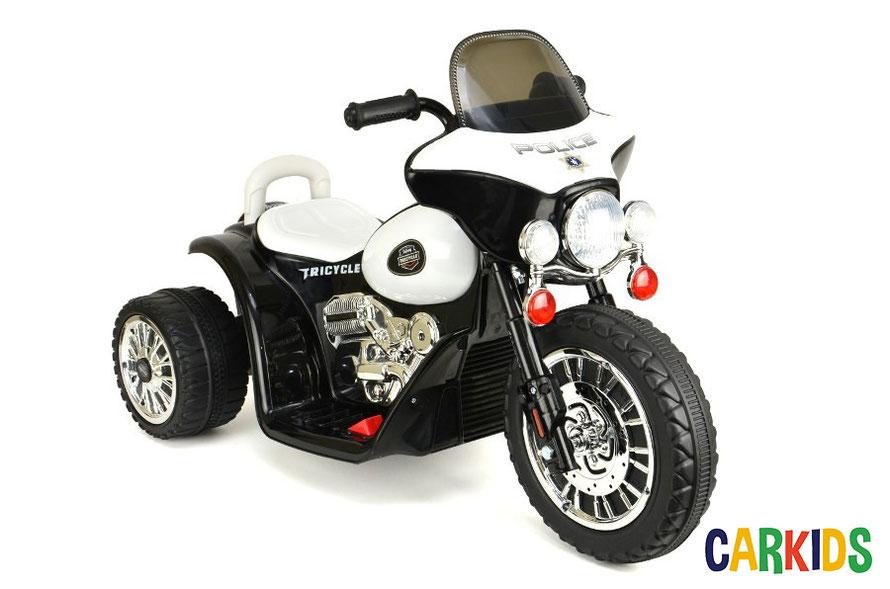 moto police nyc blanc cr ateur de bonheur voitures lectriques pour b b s et. Black Bedroom Furniture Sets. Home Design Ideas