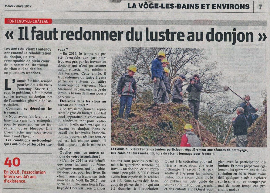 Vosges Matin - 7 mars 2017