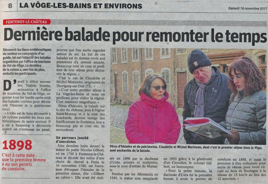 Vosges Matin - 18 novembre 2017