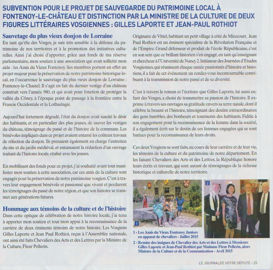 Journal du Député - 2016