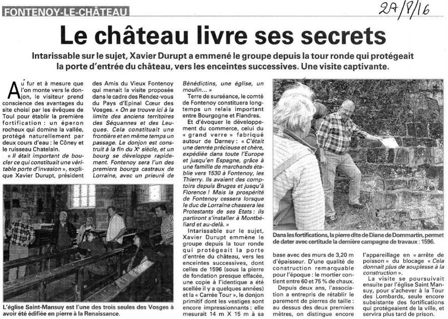 Vosges Matin - 27 août 2016