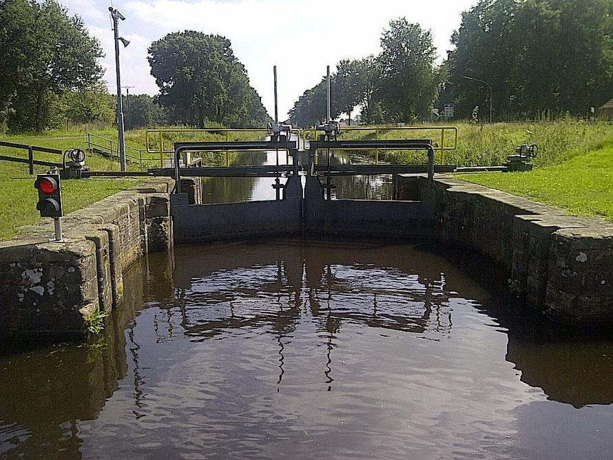 Letztes deutsches Schleusentor auf dem Haren-Rütenbrock Kanal