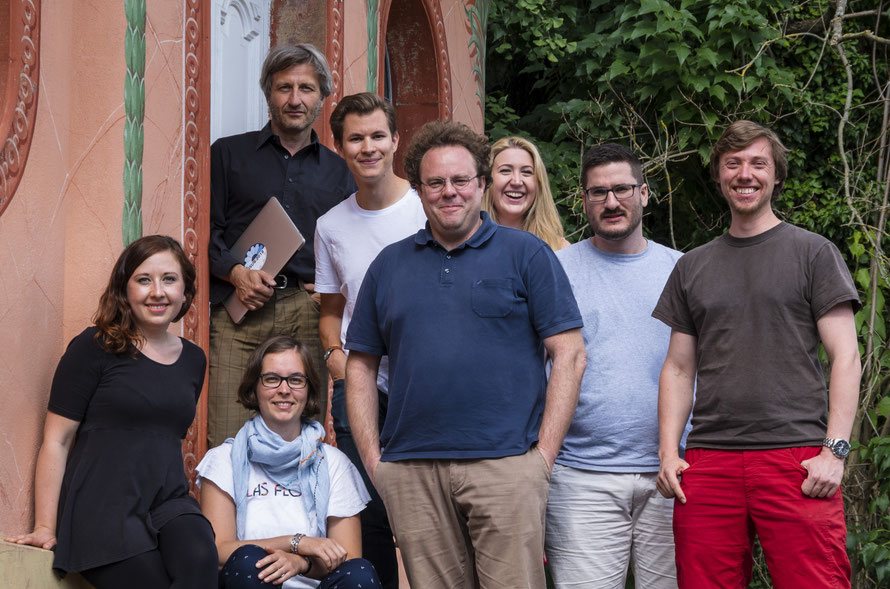 From left to right: Marie Baur, Prof. Dr. Michael Schefczyk, Dorothee Bleisch, Nico Brähler, Dr. Christoph Schmidt-Petri, Sina Schmitt, Maximilian Hagelstein, and Michael Schmidt.