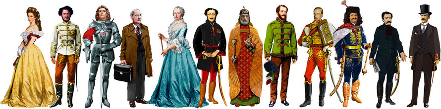 Hungarian national Museum, Hungarian heroes, illustration, 2012