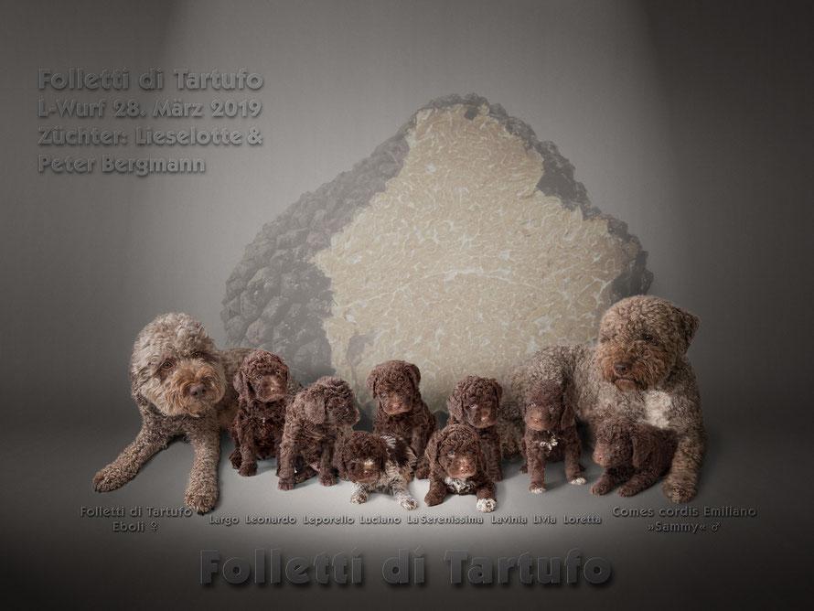 Familienphoto Comes cordis Emiliano »Sammy«  x  Folletti di Tartufo Eboli