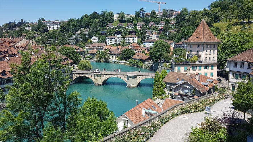 Bern, Schweizer Bundesstadt und grösste Stadt im Kanton Bern © Kunstwirtschaftler