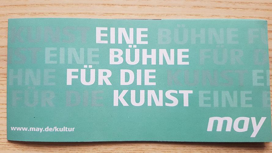 Kunstflyer www.may.de/kultur © Kunstwirtschaftler