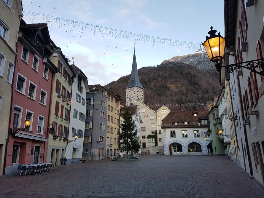 Chur, Hauptstadt des ostschweizerischen Kantons Graubünden © Kunstwirtschaftler