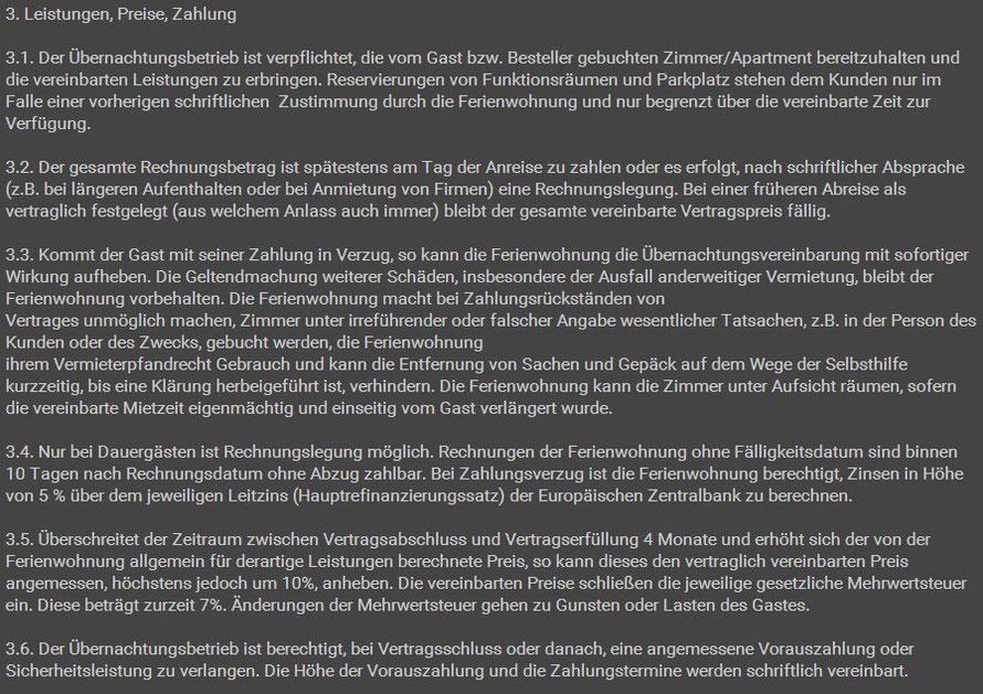 AGB Teil 2 Ferienwohnung Weimar