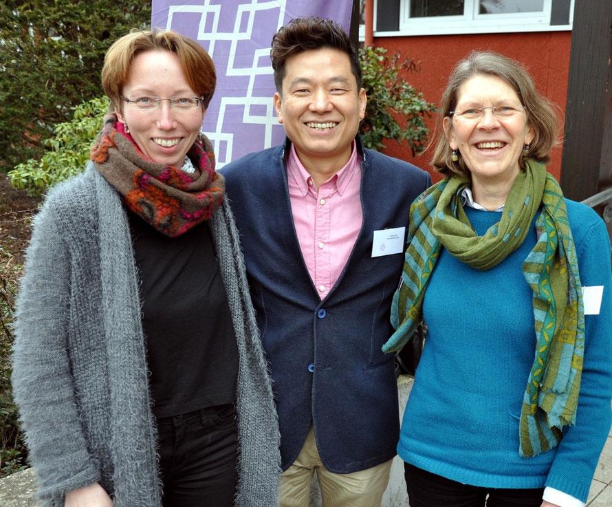 Das Kantorenteam Anja Katrin Krauße, Kiwon Lee und Barbara Müller. Foto: Gert Holle