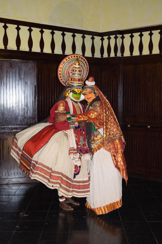 Typische Folklore: Kathakali-Tänzer. Foto: Johannes Wildner