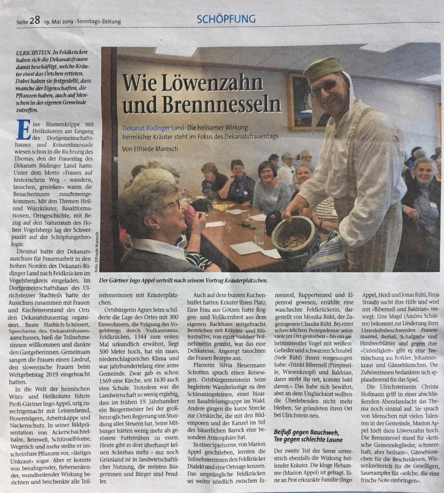 Quelle: Evangelische Sonntagszeitung - 19. Mai 2019 - Seite 24