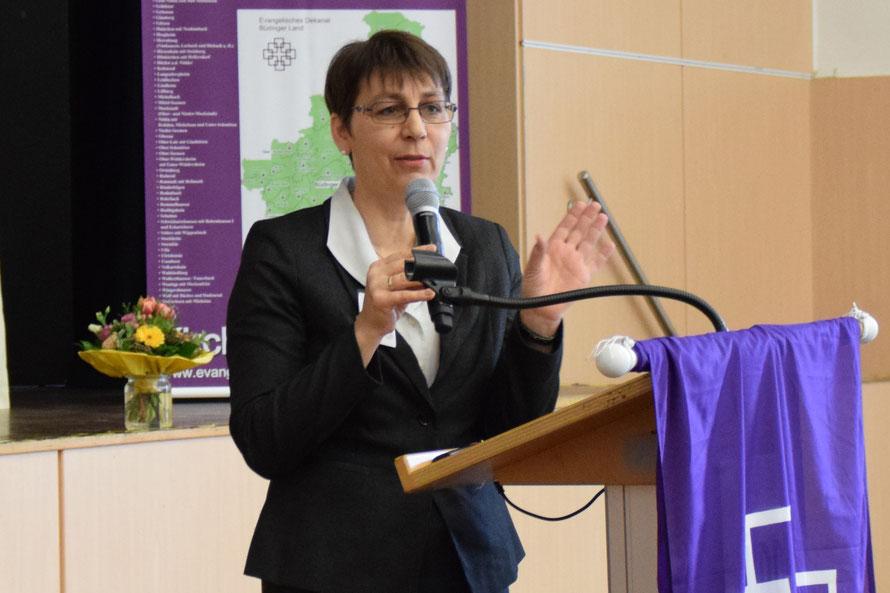Sabine Bertram-Schäfer spricht sich für Kooperationsräume aus. Foto: Gert Holle