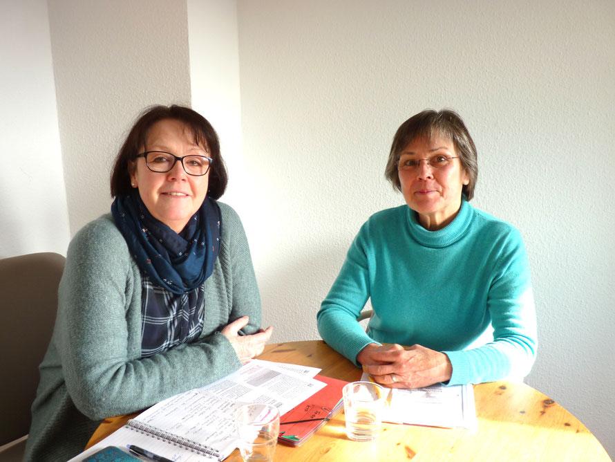 Gabriele Jäger-Duda (li.) und Barbara Blum-Farnung. Bild: Simone Parbel
