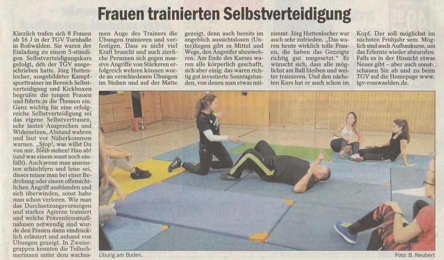 """veröffentlicht in """"Bei uns"""" der Eßlinger Zeitung"""
