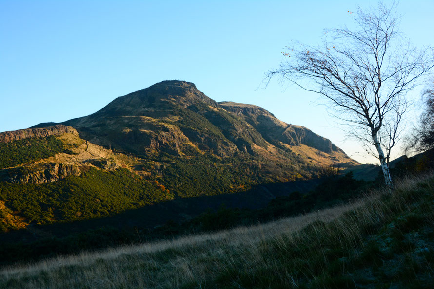 Back view of Arthur's Seat from the north.