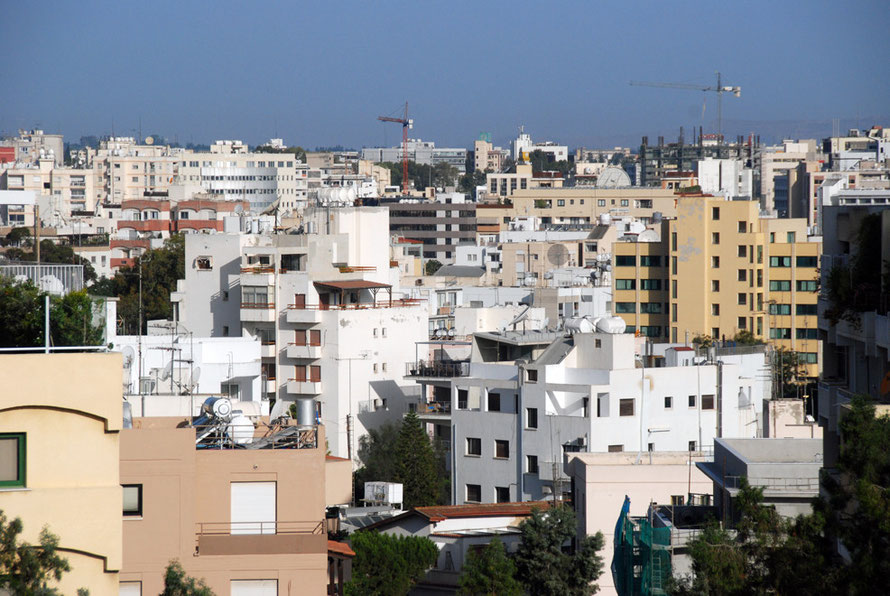 Contemporary Nicosia (2012) with cranes.