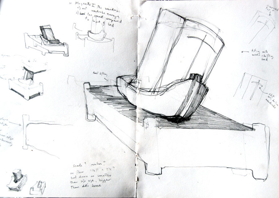 Bed and Boats, Sketchbook page.