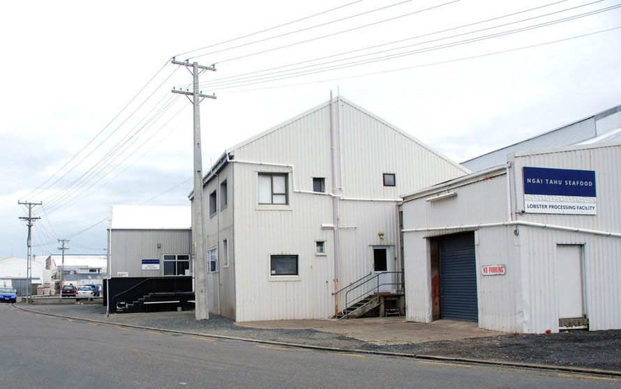 The Ngai Tahu Seafood Lobster Processing Facility at Bluff. It is  part of Ngai Tahu Holdings Corp, established after the Waitangi Tribunal settlement
