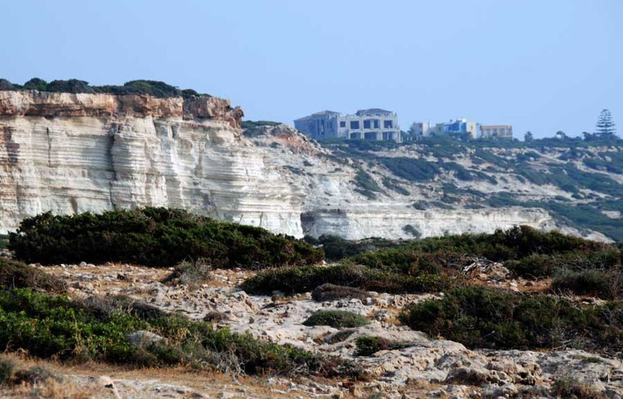 Akamas in June 2012: new developments marching up the peninsula.