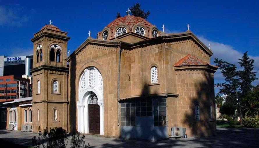 Agios Spyridon and Deloitte offices off Archbishop Makarios III Avenue
