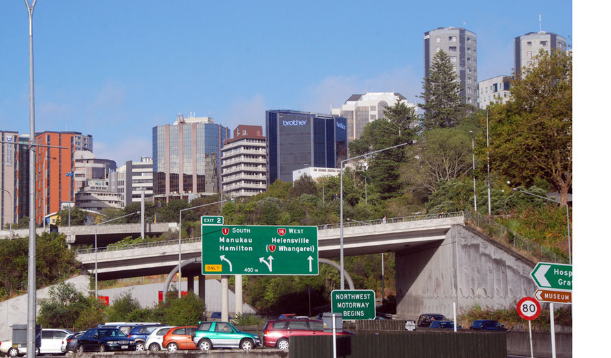 Modern Auckland to the east of the Central Business District.