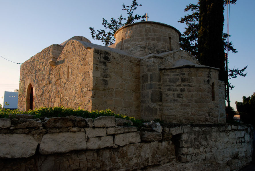 Where the Knights Hospitaller prayed: 12th century church of Agios Efstathios next to Kolossi, January 2013.