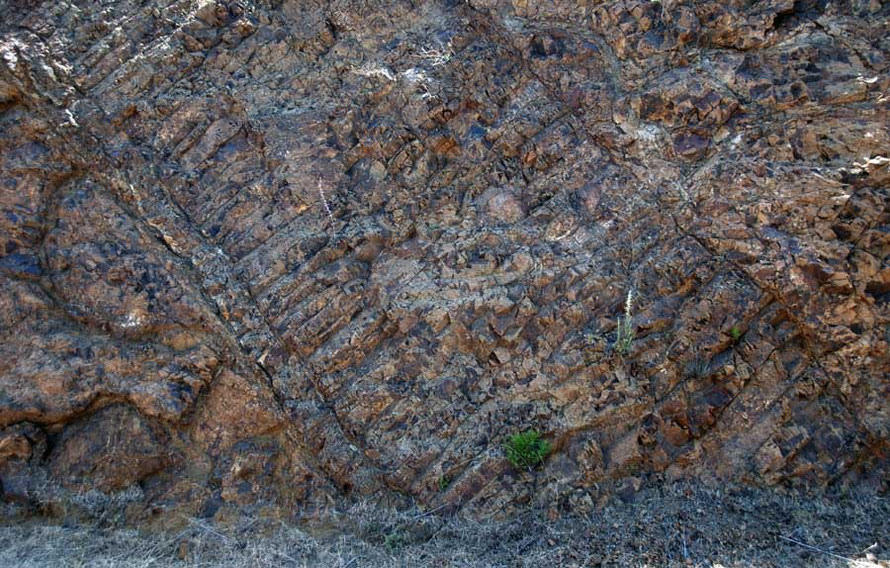 The uplifted ophiolite that forms the Troodos mountains if ancient seafloor from the Upper Cretaceous Period, 90 millions years ago (near Kokkina)