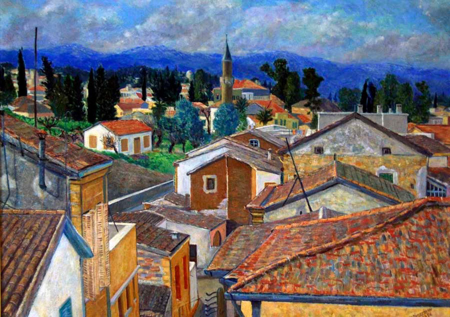 Nicosia Rooftops, 1959 State Collection of Contemporary Art, Nicosia
