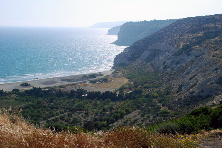 The serried points of the western side of Episkopi Bay running up to Cape Aspro from Kourion, May 2012.