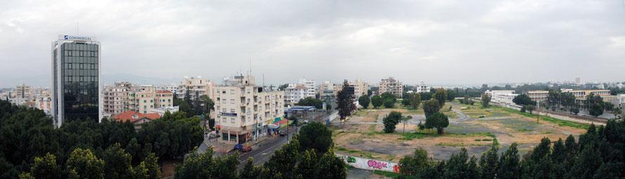 Nicosia panorama to the North East from the Nicosia Hilton.