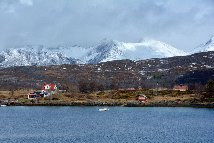 The super remote settlements of Senja Island's Atlantic coast. This is Straumsnes near between Hamn and Berg. Fish drying made it possible to exploit proximity to cod stocks whilst overcoming geographical remoteness for trading purposes.