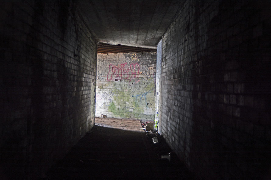 The right-hand tunnel in the magazine at the South Foreland.