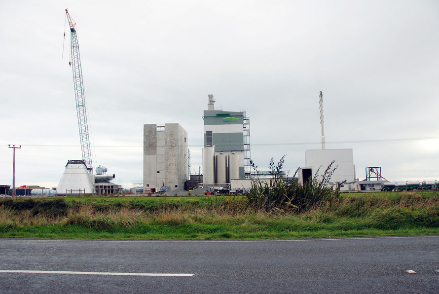 Open Country milk processing and drying plant being built  between Bluff and Invercargill, Southland