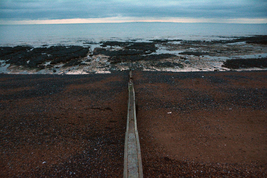 Groyne to France, mid Jan, 2015, St Margarets Bay, Kent.