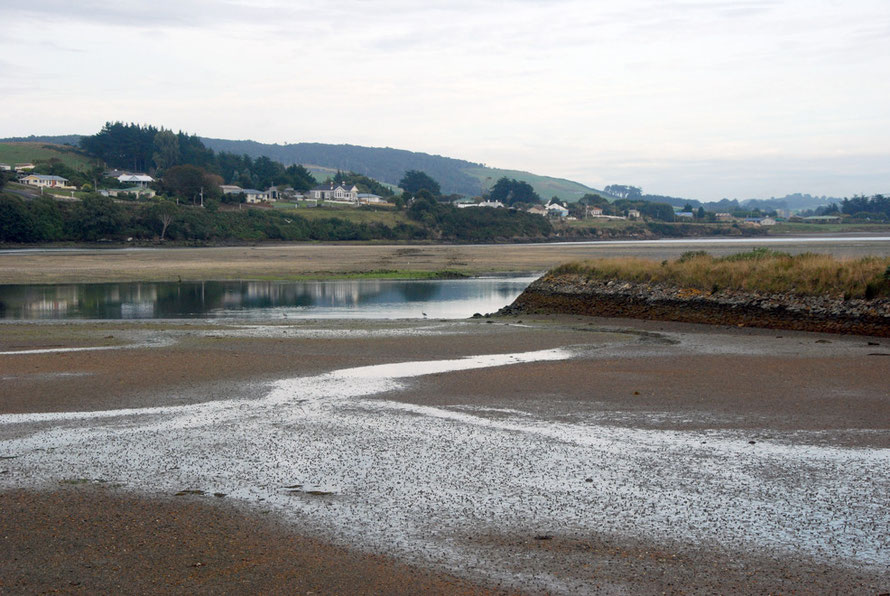 Riverton, Soutland: the tide out on the Jacob's River estuary.