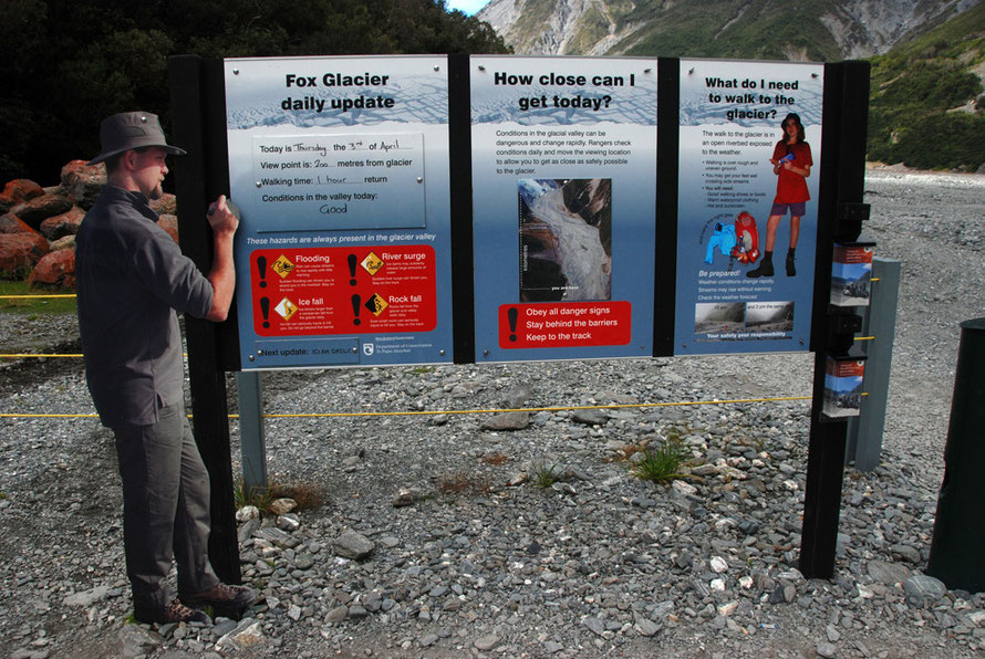 Daily updates from the cardboard ranger on the Fox Glacier