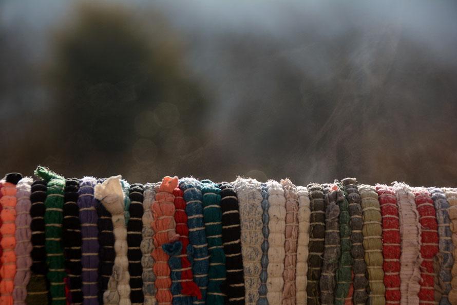 Steaming rag rug