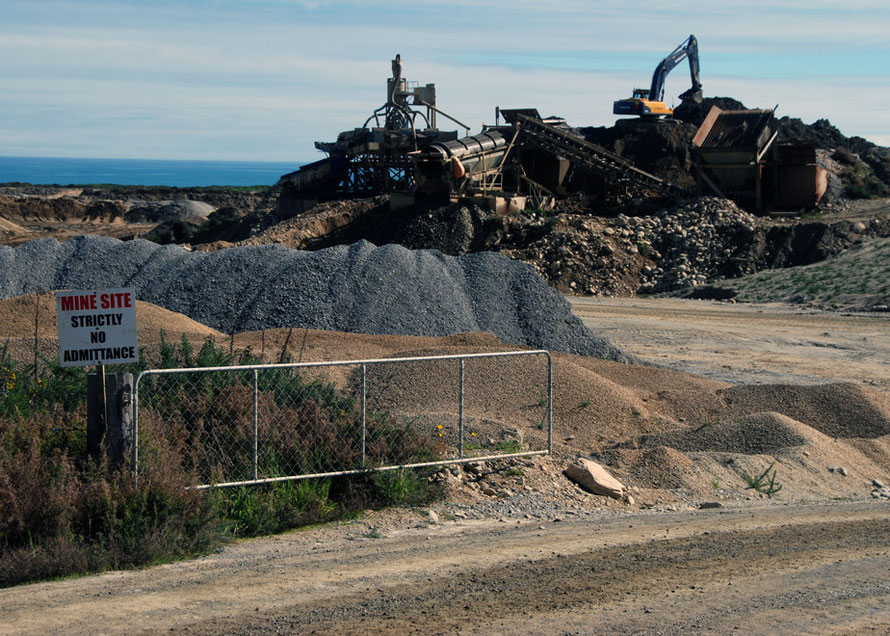 A gold mine south of Ross, Westland