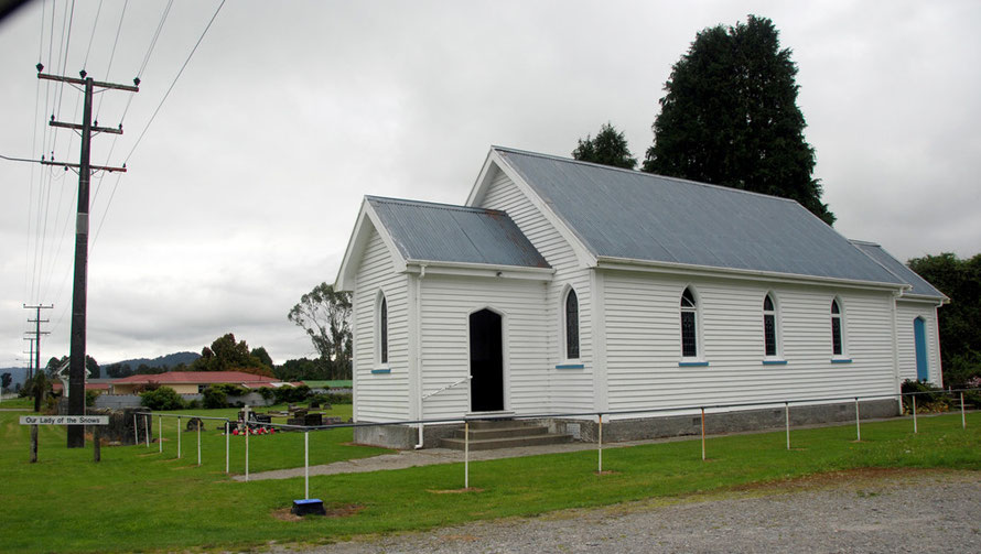 'Our Lady of the Snows' - the simple church at the very edge of Fox Glacier Village