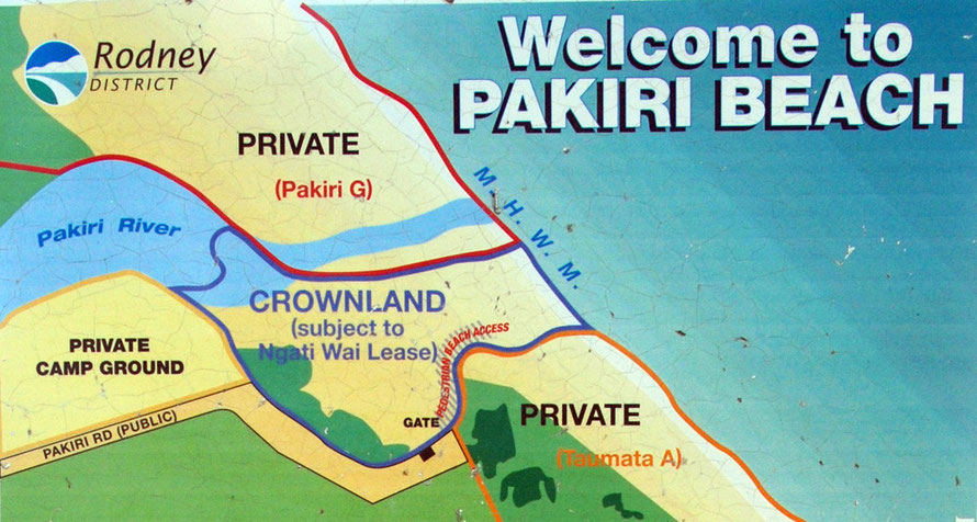 Land ownership issues at Pakiri Beach