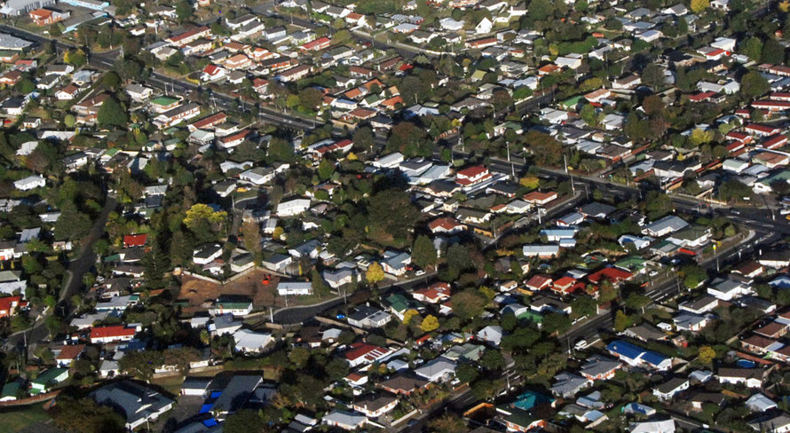 This is another shot of Manurewa, 20km south of the Central Business district.