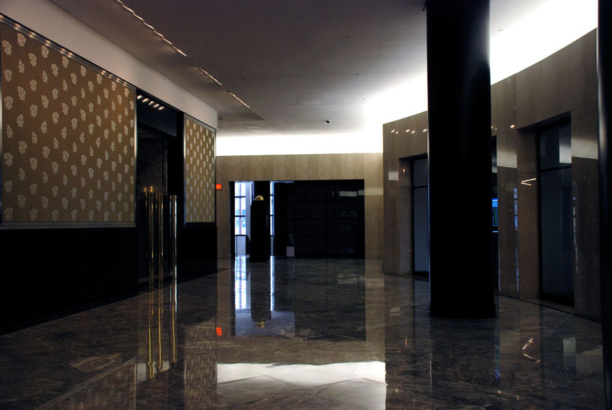 A highly polished foyer in the World Financial Center, New York in 2006.