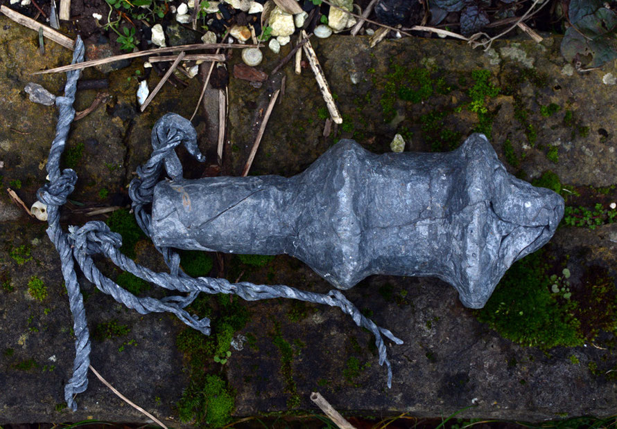 'Plumbum': leaden skies reflected in this lead sculpture I made - from the 'Objects for the Sea Floor' series.  Needless to say it never made it to the sea floor.