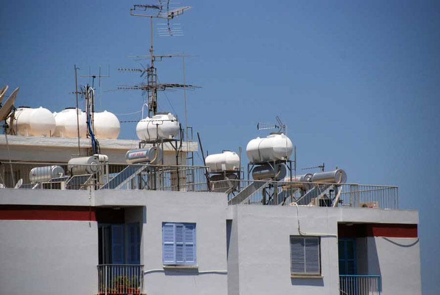 Less rain plus more people equals a massive water deficit: solar powered water heating on Nicosia rooftops