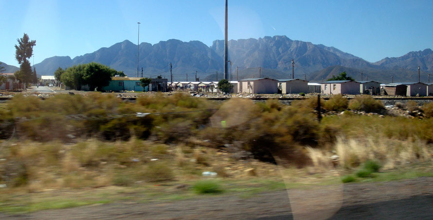 Township at Zweletemba, Worcester. By the 1990s, one of the gross legacies of apartheid lay in the vastly unequal racial division of land, with 87% of the land area being legally designated for exclus